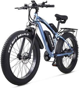 Electric Snow Bike 1000W 4.0 Fat Tire 26 Inch Adult E Mountain Bike Beach Cruise