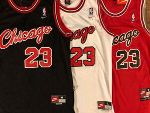 Michael Jordan #23 1984 Rookie CHICAGO BULLS Men's/Youth Red/Black/White Jersey