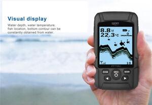 Portable LUCKY FF718Li-W Wireless Fish Finder 45M Depth 90° Sonar Fishfinder