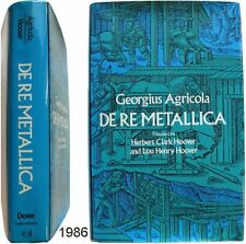 De Re Metallica Georgius Agricola relié Hoover métallurgie minéralogie géologie