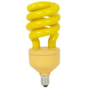 Feit BPESL13TC/BUG 13-watt Mini Twist Yellow Bug Candelabra Base 60-watt Light