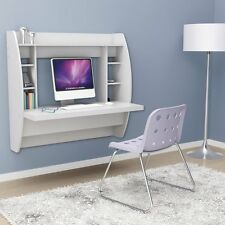 Prepac Floating Desk with Storage -, White