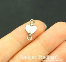20pcs Heart Connector Charm Antique Silver Charm Necklace Pendant SC710