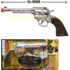 TOY COWBOY GUN PISTOL REVOLVER WILD WEST SUPER PLAY SET BADGE MASK