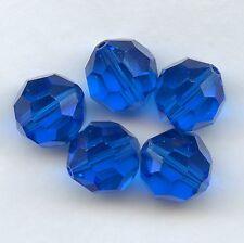 5000 10 CB *** 4 perles cristal Swarovski RONDES 10mm CAPRI BLUE