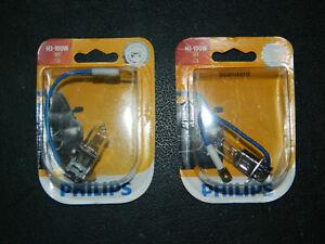 (2) NEW PHILIPS STANDARD H3-100W DAYTIME RUNNING LIGHT FOG H3-100WB1 12V 100W