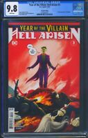Year of the Villain Hell Arisen 3 (DC) CGC 9.8 WP 2nd Print, 1st full Punchline