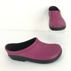 Sloggers Women's Size 6 Sangria Red Premium Garden Slip On Comfort Clogs