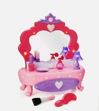 7 Pieces Girls Pink/Red Make-up Light-Up Vanity Set with Working Storage Drawer