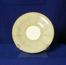 Wedgwood England Kenilworth White Floral Scrolls Saucer bfe2391