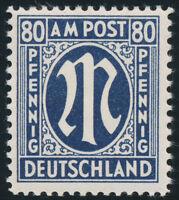 BIZONE, AM-POST, MiNr. 34 b C, tadellos postfrisch, gepr. Wehner, Mi. 180,-