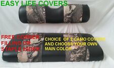 GOLF CART CUSTOM SEAT COVERS #60 T.S. CAMO FRONT  ALL CARTS STAPLE ON DIY