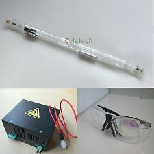 HQ 60W CO2 Laser Tube 1.2M  + Power Supply + Goggles Engraver Cutter 110V