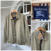 Men's Burberry Vintage Beige Nova Check Cotton Harrington Jacket Size XL-XXL