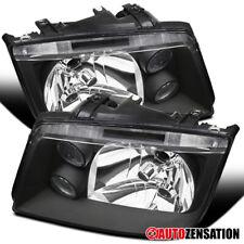 For 1999-2005 Volkswagen Jetta MK4 Bora Black Headlights w/ Built-in Fog Lamps