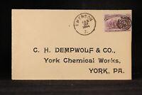 Ohio: Emerson 1894 #231 Dempwolf Cover, DPO Jefferson Co