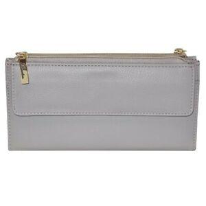 Buxton Florence II Cosmopolitan Wallet Gray Women's Wallet NEW