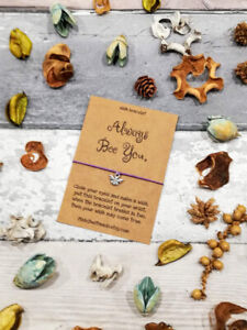Always bee you wish bracelet, Friendship Bracelet, Bee Wish Bracelet, Wish gift