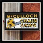Vintage Mcculloch  Chainsaw Chain Saw Sign Photo Pendant Keychain Gift