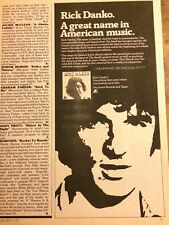 Rick Danko, The Band, Vintage Promotional Ad