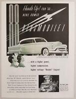 1953 Print Ad The '53 Oldsmobile 88 2-Door Car Olds Rocket Engine