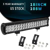 18inch 108W LED Work Light Bar Combo for OffRoad Truck 4WD SUV JEEP Driving ATV