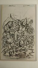 ivan reis original comic art justice league 28 preliminary drawing cover� Comic Art