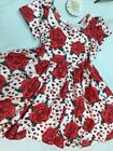 Rose Hearts Love 2T- Hugs Dress- Charlie's Project CLOSEOUT FINAL