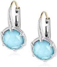 301f7bdd3 Judith Ripka Sterling/18K Eclipse Synthetic Turquoise Pierced Earrings