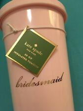 Kate Spade Insulated Tumbler | Bridesmaid | Pink | New