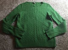 J.CREW Green Woman's Sweatshirt Size M Cashmere Blend