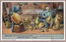 Old Belgian Copper Metal Workers Dinanderie 65+ Y/O Trade Ad Card