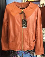 Guarapo 100% Leather Jacket Size M Made In Italy 🇮🇹 Retail €295