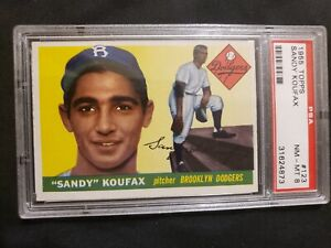1955 Topps #123 Sandy Koufax Brooklyn Dodgers Rookie Card   PSA 8  NM/MT  INVEST