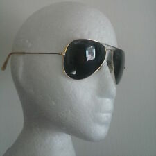 👓 ❗️ Ray Ban Aviators Sunglasses Gold Frame 58[]14 Made in USA B&L VTG 👓 ❗️