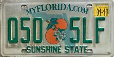 GENUINE American Florida Sunshine State USA License Number Plate Tag Q50 5LF