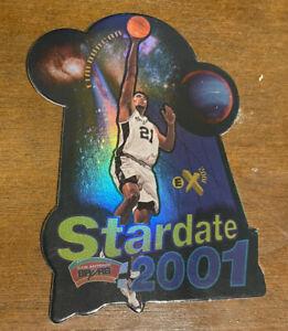 Tim Duncan 1997-98 E-X2001 Stardate: 2001 #5 Die Cut Rookie Card - RARE SP!! RC