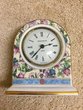 "Wedgwood ""sarah"" Bone China Mantal Clock - Excellent Condition"