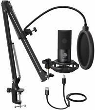 USB Studio Kondensatormikrofon Recording Mikrofon mit verstellbarem Shock Mount