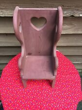 Doll High Backwooden Chair Hearts