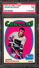 1971 72 OPC O PEE CHEE HOCKEY #12 ANDRE BOUDRIAS PSA 7 N-MINT VANCOUVER CANUCKS