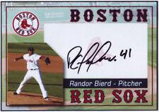 Randor Bierd Custom Photo Card Auto Autograph - Boston Red Sox
