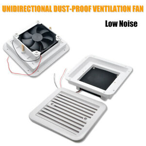 Exhaust Ventilation Fan Side Air-Vent Low Noise RV Camper Motorhome Van White
