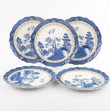 Booths Real Old Willow 5 X Large Dinner Plates, 10.5 Inches