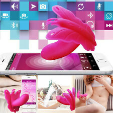 Bluetooth Wireless App Remote Control Butterfly Vibration Vibrating Silicone 4h