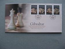 GIBRALTAR, cover FDC 2012, Chess Festival