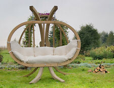 Double Swing pod & Double Hammock Swinging garden sofa furniture free delivery