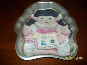 "2000 Wilton Baby Doll Cake Pan w/Insert VGC 2 Layer Cake Mix 11"" W 12"" High"