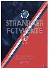 Stranraer v FC Twente - International Friendly 08/07/17 Programme
