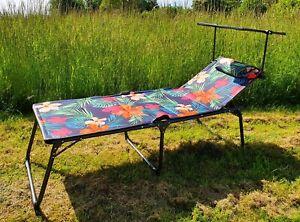 WESTFIELD® XL Sonnenliege Multicolor inkl. Sonnendach 193 cm belastbar bis 140kg